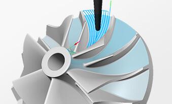 五轴联动涡轮增压叶轮加工